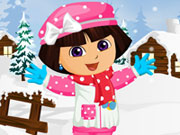 Play Dora Winter Fashion Dress Up