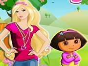 Play Barbie and Dora Adventure