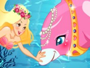 Play Mermaid and Dolphin